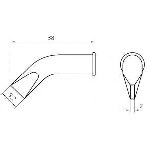LHT-FX kolviots lapik 10x2mm painutatud WSP-150