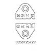 Koorimisotsikute komplekt AWG12, 14, 24, 26, WST kolvile