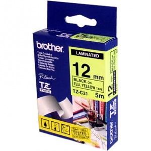Markeerimislint 12mm must kiri neoonkollasel (5m) TZ-C31