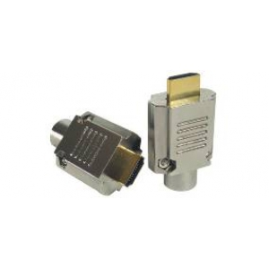 HDMI pistik, joodetav, 1,5µ, kullatud, max 10mm kaablile