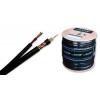 Koaksiaalkaabel RG59B/U 75R must + toide 2x0,50mm2 500m/rull