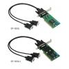 RS-422/485 kaart, Low Profile, 2 porti, opt. Isol. 2KV + DB9M kaabel
