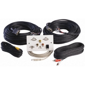 Seinapesa: 2x VGA, USB, 3.5mm, RCA, RJ45 + 15m kaablid