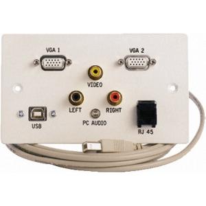 Seinapesa: 2xVGA, USB, Video, Audio, RJ45 pesa