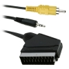 SCART pistik - RCA + 3.5mm stereo pistik 1.5m (IN/OUT)