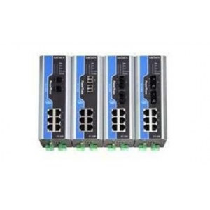 IEC 61850-3 switch DIN-liistule: 6 x 10/100BaseT(X), 2 x 100BaseFX multi-mode LC, 1 x toiteplokk 24 VDC, -40 kuni 85°C