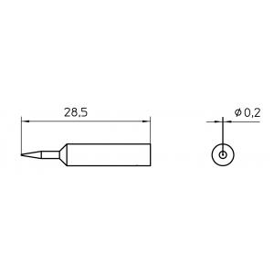 Kolviots XNT 1S ümar 0,2mm
