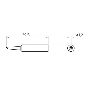 XNT 4 kolviots WXP65 ümar d1,2mm lõigatud 45°