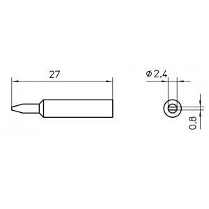 Kolviots XNT B lapik 2,4x0,8mm