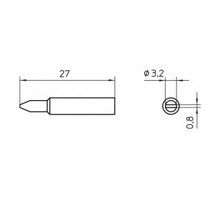 Kolviots XNT C lapik 3,2x0,8mm