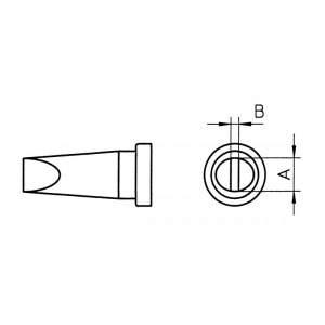 LT-DLL kolviots lapik 4,6x0,8mm WP80,WSP80,FE75,raud