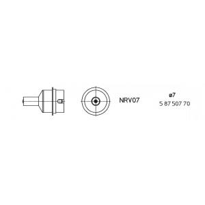 NRV07 kuumaõhuots ümar 7,0mm, vaakumiga