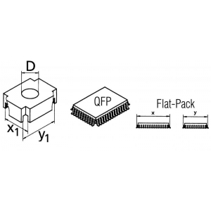 CSF-Q mahajootmispea QFP korpusele 17,0x23,0mm