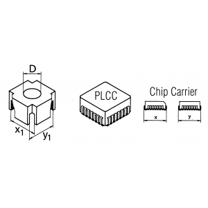 CSF-QI mahajootmispea PLCC korpusele 17,8x17,8mm