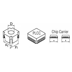 CSF-QI mahajootmispea PLCC korpusele 25,4x25,4mm