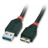 USB 3.0 kaabel A - Micro B 0.5m, must
