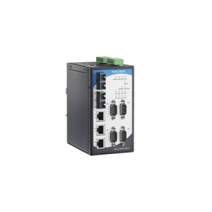 4 x RS-232/422/485 porti, 3 x 10/100M Ethernet porti, 2 x 100M multi-mode SC, 15 KV ESD, 12-48 VDC, -40 kuni 75°C