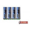 IEC 61850-3 switch DIN-liistule: 6 x 10/100BaseT(X), 2 x 100BaseFX multi-mode MTRJ, 1 x toiteplokk 24 VDC, -40 kuni 85°C