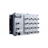 Switch: 16 x 10/100BaseT(X) M12 pesad, 2 x toiteplokk 12/24/36/48 VDC ja 72/96/110 VDC, -40 kuni 75°C