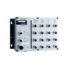 Switch: 8 x 10/100BaseT(X), 8 x PoE, M12 pesad, 1 x toiteplokk 88-300 VDC või 85-264 VAC, -40 kuni 75°C