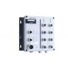 Switch: 8 x 10/100BaseT(X), 2 x 10/100/1000BaseT(X), M12 pesad, 2 x toiteplokk 12/24/36/48 VDC ja 72/96/110 VDC, -40 kuni 75°C