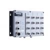 Switch: 16 x 10/100BaseT(X), 2 x 10/100/1000BaseT(X), M12 pesad, 2 x toiteplokk 72/96/110 VDC, 0 kuni 60°C