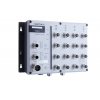 Switch: 16 x 10/100BaseT(X), 2 x 10/100/1000BaseT(X), M12 pesad, 2 x toiteplokk 12/24/36/48 VDC ja 72/96/110 VDC, -40 kuni 75°C
