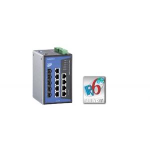 Switch: 3 x 10/100BaseT(X), 4 x 10/100BaseT(X) PoE, 3 x 10/100/1000BaseT(X) või 100/1000BaseSFP, -40 kuni 75°C