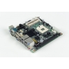 Intel® Core™ i7/i5/Celeron uFC-PGA989 Mini-ITX with CRT/2DVI/LVDS, 6 COM, Dual LAN, PCIe x16