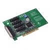 4-port RS-232/422/485 UNI PCI COMM card w/DB9