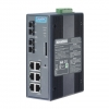 6Tx + 2 SM Managed Ethernet Switch w/ Wide Temp DIN