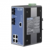 4Tx+2 SM SC Type Fiber Optic Managed Industrial Ethernet Switch with Wide Temperature DIN