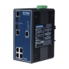 4 x RJ-45 10/100 + 2 RJ-45/SFPCombo G Port Gigabit Managed Redundant Industrial Ethernet Switch DIN