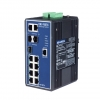 710/100 +3G Combo Port Gigabit Managed Redundant Industrial Ethernet Switch with 2 x DI/O DIN
