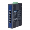 5-port Unmanaged Industrial Ethernet Switch w/ Wide Temp DIN