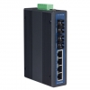 4 x 10/100 Mbps 2 x 100 Mbps Multi-mode SC Unmanaged Industrial Ethernet Switch DIN