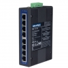 8-port Unmanaged Industrial Ethernet Switch w/ Wide Temp DIN