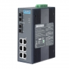 6Gx+2 Multi-Mode SC Unmanaged Ethernet Switch with Wide Temperature DIN