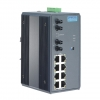 8+2 Multi-mode ST Fiber Optic Industrial Unmanaged Ethernet Switch with Wide Temperature DIN