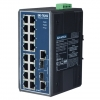 16+2G Combo Port Gigabit Unmanaged Industrial Ethernet Switch / 16 x RJ-45 + 2 RJ-45/SFP combo ports DIN