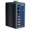 8+2G Combo Port Gigabit Unmanaged Industrial Ethernet Switch / 8 x RJ45 + 2 x RJ-45/SFP combo ports DIN
