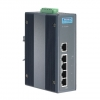 5-port Industrial PoE Switch with 24/48 VDC Power Input