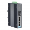 5-port Industrial PoE Switch with 1x100Fx Single-Mode and Wide Temperature