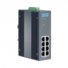 8-port Industrial PoE Switch with 24/48 VDC Power Input and Wide Temperature