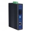 10/100T(X) to Single-Mode SC Type Fiber Optic Industrial Media Converter, -40 ~ 75°C