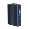 10/100/1000TX to 1000Base-LX SC Type Fiber Optic Gigabit Industrial Media Converter, Wide Temp., -40 ~ 75°C