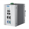 Intel Pentium M/Celeron M DIN-rail PC with 2 x LAN, 3 x COM, 4 x USB, PC/104+