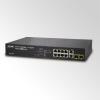 SNMP Managed 8-Port 802.3af PoE Fast Ethernet Switch + 2-Port Gigabit (130W), stackable