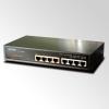 """10"""" 8-Port 10/100 Ethernet Web/Smart Switch with 4-Port 802.3af PoE Injector"""