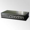 "10"" 8-Port 10/100 Ethernet Switch with 4-Port 802.3af PoE Injector"